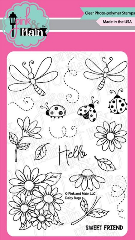 Pink & Main - Clear Stamp - Daisy Bugs