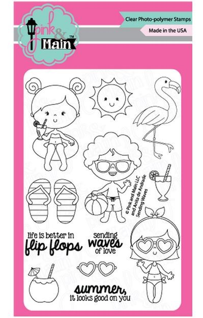 Pink & Main - Clear Stamp - Sending Waves