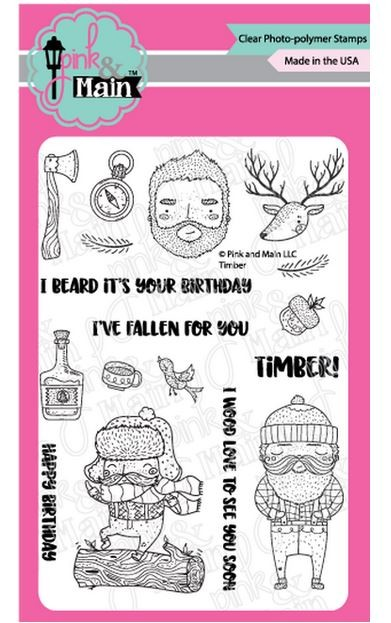 Pink & Main - Clear Stamp - Timber