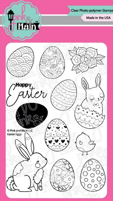 Pink & Main - Clear Stamp - Easter Eggs