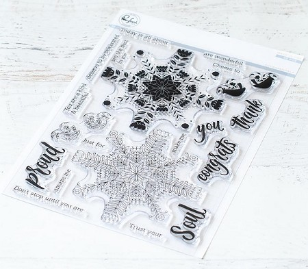 Pinkfresh Studio - Folk Mandala Clear Stamps