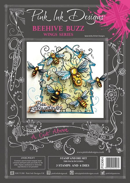 Pink Ink Designs - Beehive Buzz A4 Clear Stamp Set + dies
