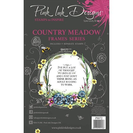 Pink Ink Designs - Country Meadow A5 Clear Stamp Set