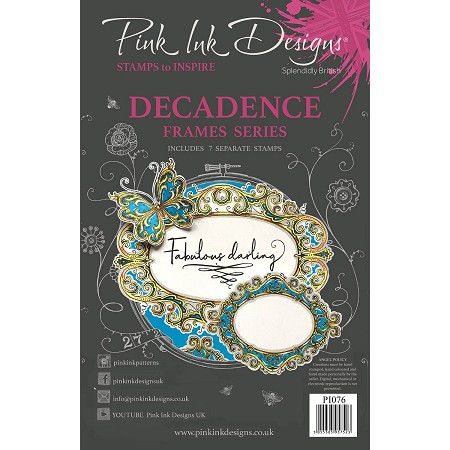 Pink Ink Designs - Decadance A5 Clear Stamp Set