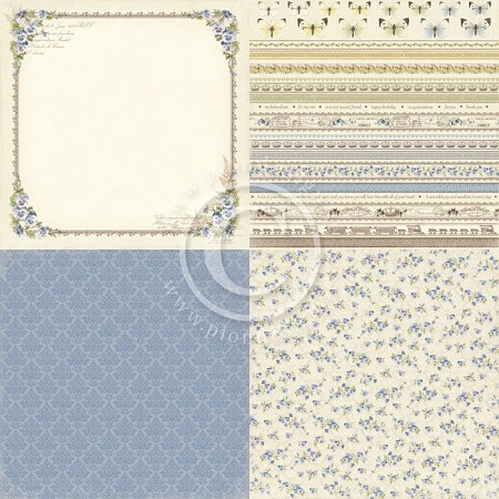 "Pion Design - My Beloved Son Collection - 12""x12"" Single Sided Cardstock - 6x Pansy"