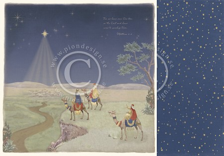 "Pion Design - Long Ago In Bethlehem Collection - 12""x12"" Double Sided paper - Three Wise Men"