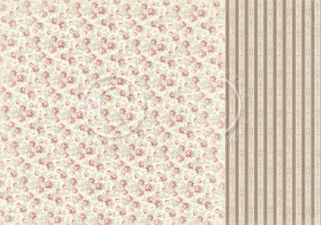 "Pion Design - Cherry Blossom Lane Collection - Bed of Roses - 12""x12"" Double Sided paper"