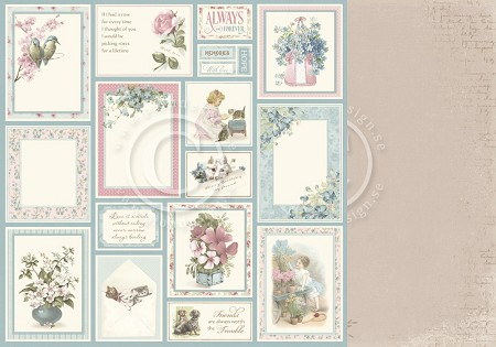 "Pion Design - Cherry Blossom Lane Collection - Wonderful Memories - 12""x12"" Double Sided paper"