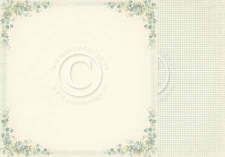 "Pion Design - Easter Greetings Collection - 12""x12"" Double Sided cardstock - Forget Me Not"