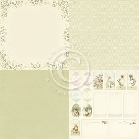 "Pion Design - Easter Greetings Collection - 12""x12"" Single Sided cardstock - 6X Lily of the Valley"