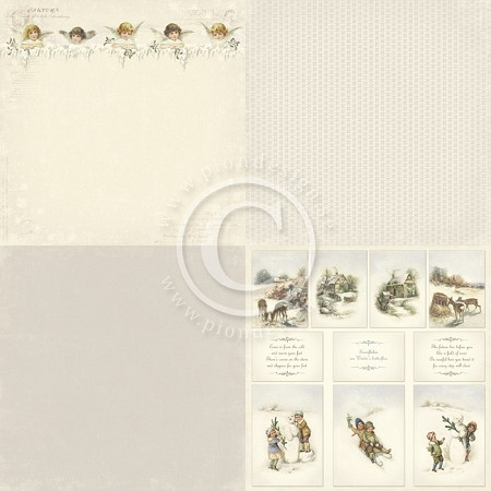"Pion Design - Glistening Season Collection - 12""x12"" Single  Sided cardstock - 6x Angels In A Row"