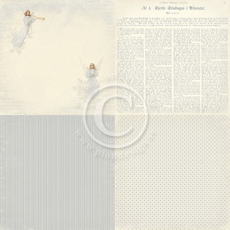 "Pion Design - Glistening Season Collection - 12""x12"" Single  Sided cardstock - 6x Angels Choir"