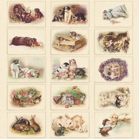 "Pion Design - Images From The Past Collection - 12""x12"" Single Sided cardstock - Animals"