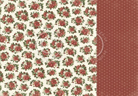 "Pion Design - Let's Be Jolly Collection - 12""x12"" Double Sided paper - Christmas Florals"