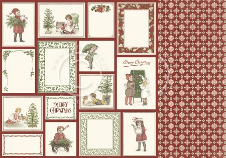 "Pion Design - Let's Be Jolly Collection - 12""x12"" Double Sided paper - Christmas Memories"