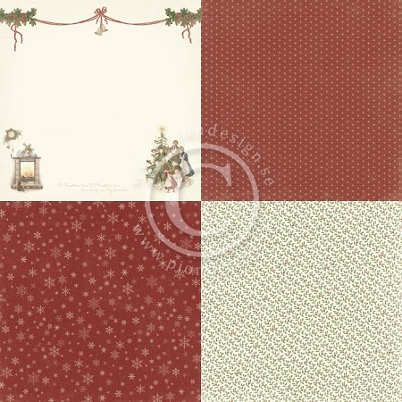 "Pion Design - Let's Be Jolly Collection - 12""x12"" Single Sided paper - 6X Christmas Eve"