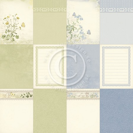 "Pion Design - Linnaeus Botanical Journal Collection - 12""x12"" Single Sided cardstock - Memory Notes I"