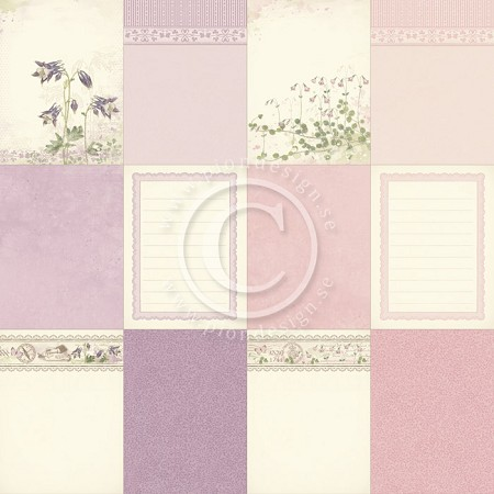 "Pion Design - Linnaeus Botanical Journal Collection - 12""x12"" Single Sided cardstock - Memory Notes II"