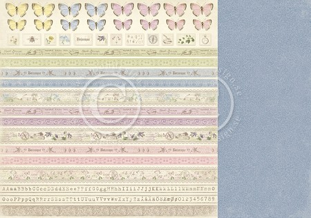 "Pion Design - Linnaeus Botanical Journal Collection - 12""x12"" Double Sided cardstock - Borders"