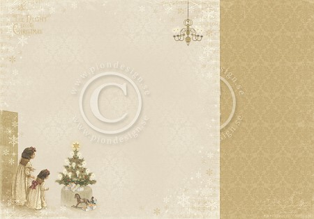 "Pion Design - The Night Before Christmas Collection - 12""x12"" Double Sided cardstock - Just A Peek"