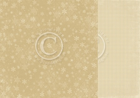 "Pion Design - The Night Before Christmas Collection - 12""x12"" Double Sided cardstock - Snowflake Magic"