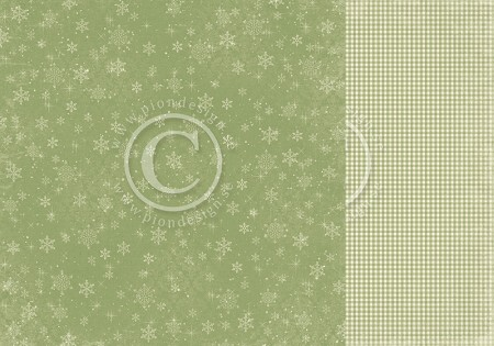 "Pion Design - The Night Before Christmas Collection - 12""x12"" Double Sided cardstock - All That Glitters Is Snow"
