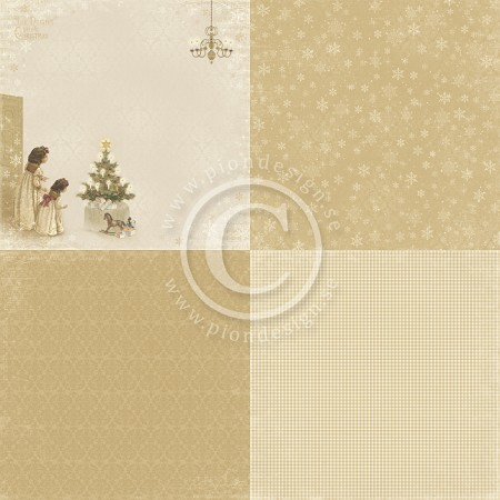 "Pion Design - The Night Before Christmas Collection - 12""x12"" Single Sided cardstock - 6X Just A Peek"