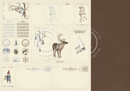 "Pion Design - Greetings From the North Pole Collection - 12""x12"" Double Sided cardstock - Tags"
