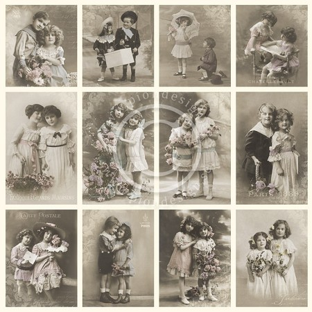 "Pion Design - From Grandma's Attic Collection - 12""x12"" Single Sided cardstock - Friendship Tinted"