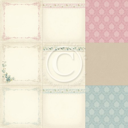 "Pion Design - Paris Flea Market Collection - 12""x12"" Single Sided cardstock - Memory Notes II"