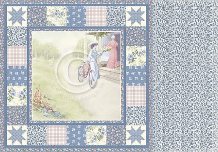 "Pion Design - Patchwork Of Life Collection - 12""x12"" Double Sided cardstock - Being A Gradmother"