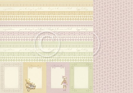 "Pion Design - Theodore and Bella Collection - 12""x12"" Double Sided cardstock - Borders"