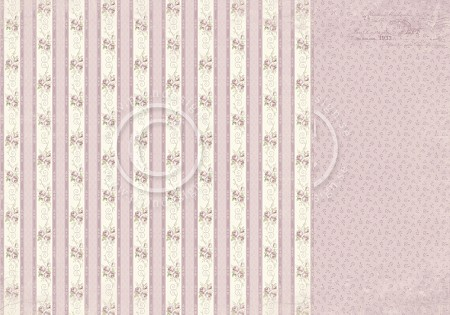 "Pion Design - Where The Roses Grow Collection - 12""x12"" Double Sided cardstock - Rose Linen"