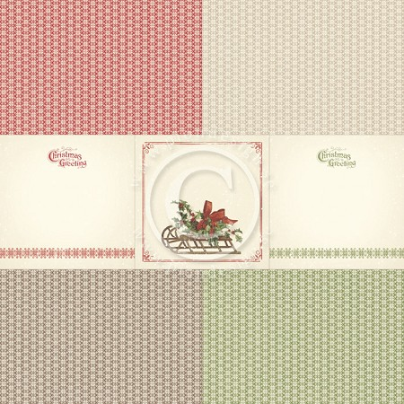 "Pion Design - Christmas In Norway Collection - 12""x12"" Single Sided cardstock - Memory Notes III"