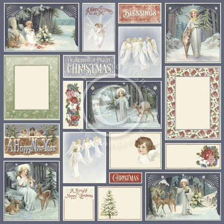 "Pion Design - A Christmas To Remember Collection - Angels All Around - 12""x12"" Single Sided paper"