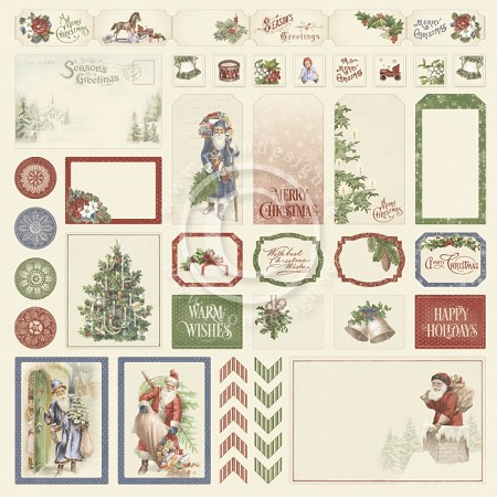 "Pion Design - A Christmas To Remember Collection - Cut Outs I - 12""x12"" Single Sided paper"