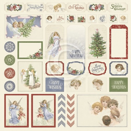 "Pion Design - A Christmas To Remember Collection - Cut Outs II - 12""x12"" Single Sided paper"