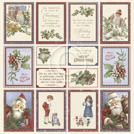 "Pion Design - A Christmas To Remember Collection - Images From The Past I - 12""x12"" Single Sided paper"
