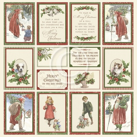 "Pion Design - A Christmas To Remember Collection - Images From The Past II - 12""x12"" Single Sided paper"