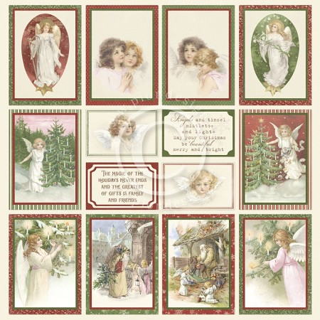 "Pion Design - A Christmas To Remember Collection - Images From The Past IV - 12""x12"" Single Sided paper"
