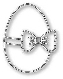 Poppy Stamps - Die - Ribbon and Bow Egg