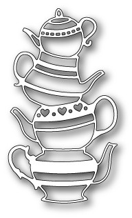 Poppy Stamps - Die - Teapot Stack