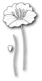 Poppy Stamps - Die - Small Iceland Poppy