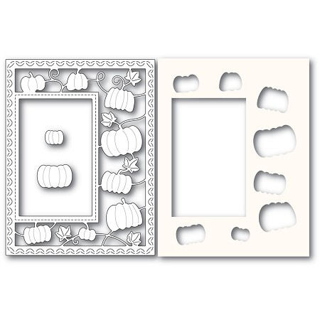 PoppyStamps - Die - Pumpkin Patch Sidekick Frame and Stencil