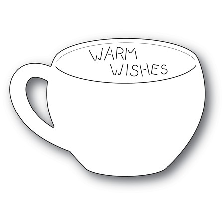 PoppyStamps - Die - Warm Wishes Gift Card Cup