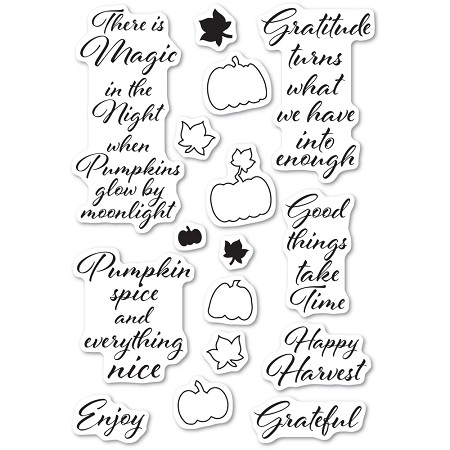 Poppystamps - Pumpkin Patch clear stamp set