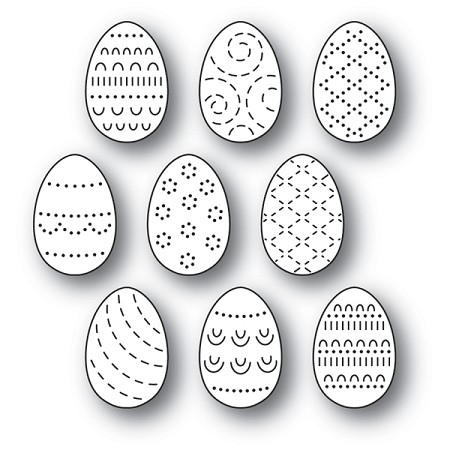 Poppy Stamps - Die - Folk Decorated Eggs