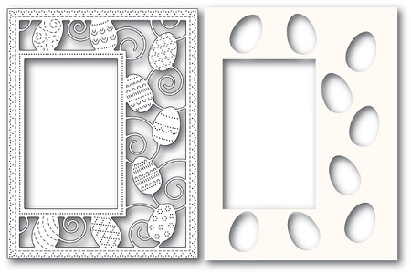 Poppy Stamps - Die - Decorated Egg Sidekick Frame and Stencil
