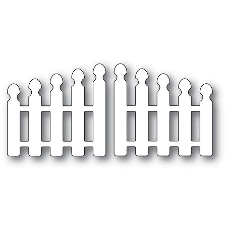 PoppyStamps - Die - Pointy Picket Double Gate