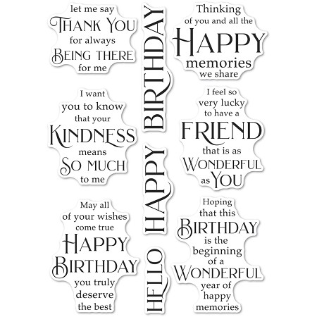 PoppyStamps - Friendship and Kindness clear stamp set